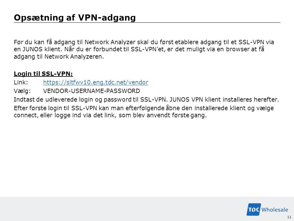Opsætning af VPN-adgang