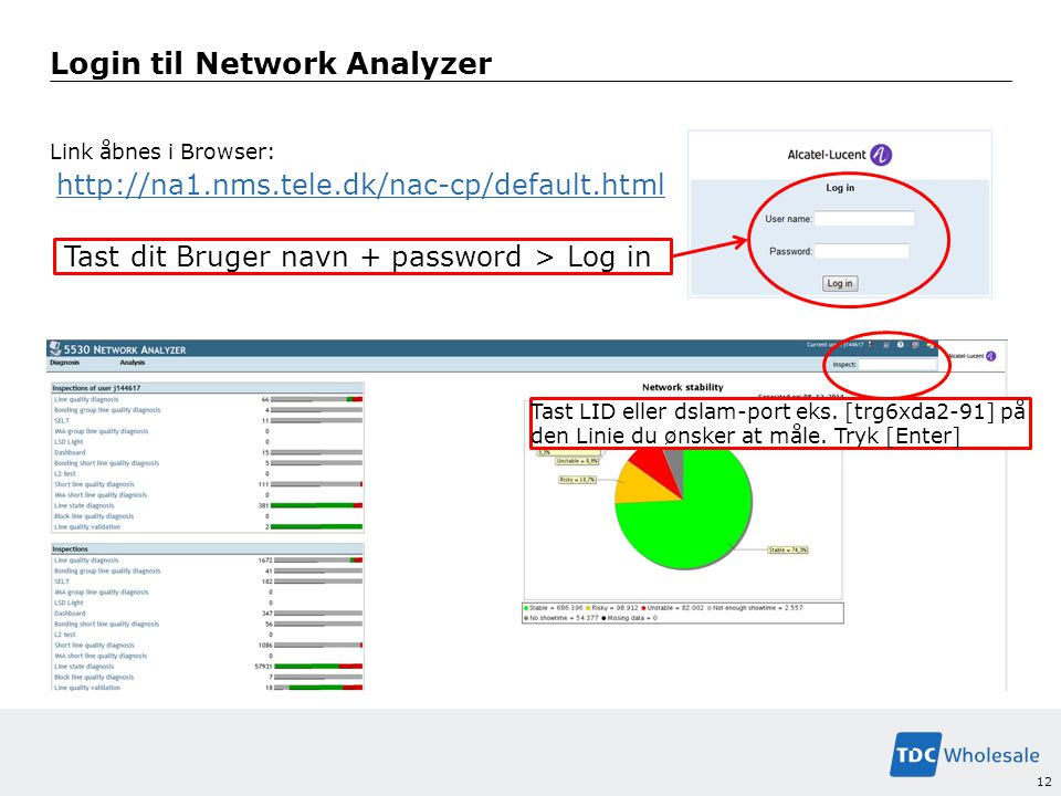 Login til Network Analyzer