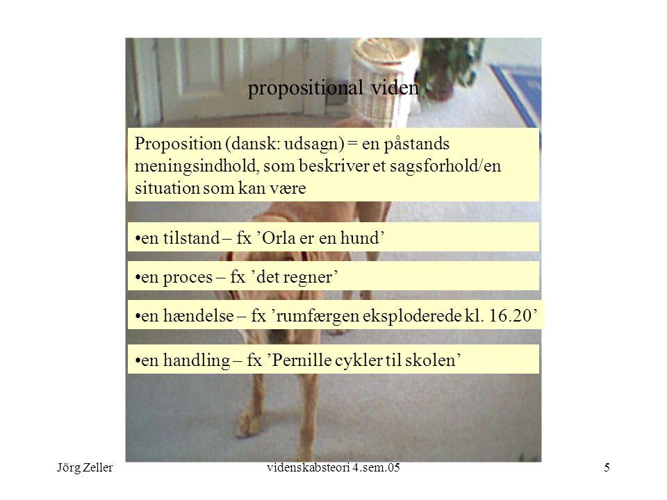 propositional viden Proposition (dansk: udsagn) = en påstands meningsindhold, som beskriver et sagsforhold/en situation som kan være.