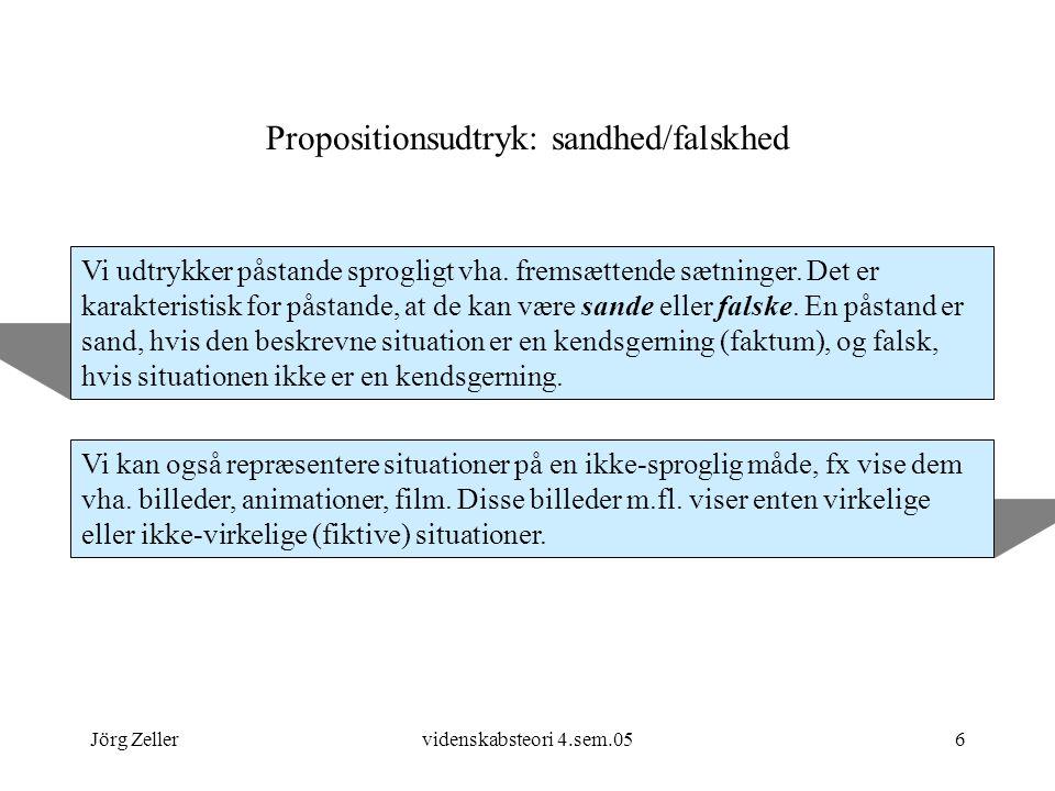 Propositionsudtryk: sandhed/falskhed