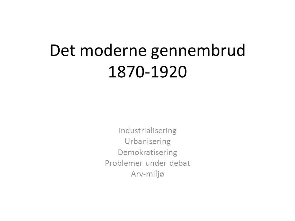 Det moderne gennembrud 1870-1920
