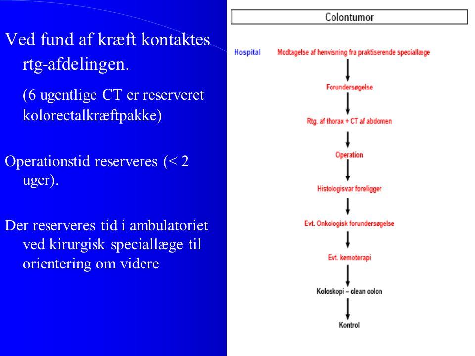 (6 ugentlige CT er reserveret kolorectalkræftpakke)