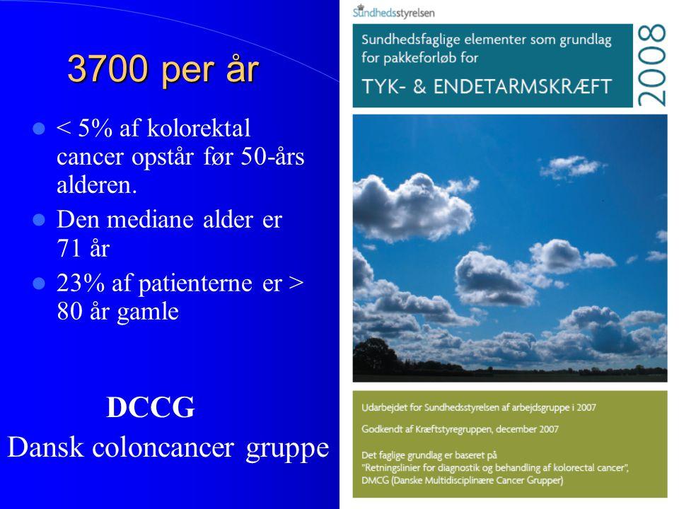 3700 per år Dansk coloncancer gruppe