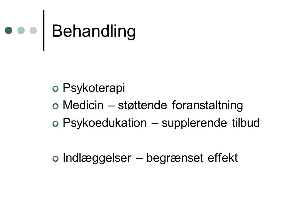 borderline medicin behandling