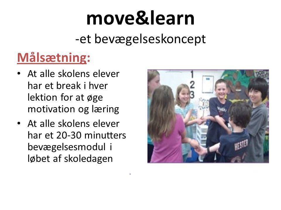 move&learn -et bevægelseskoncept