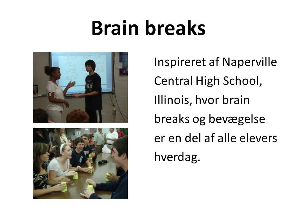 Brain breaks Inspireret af Naperville Central High School,