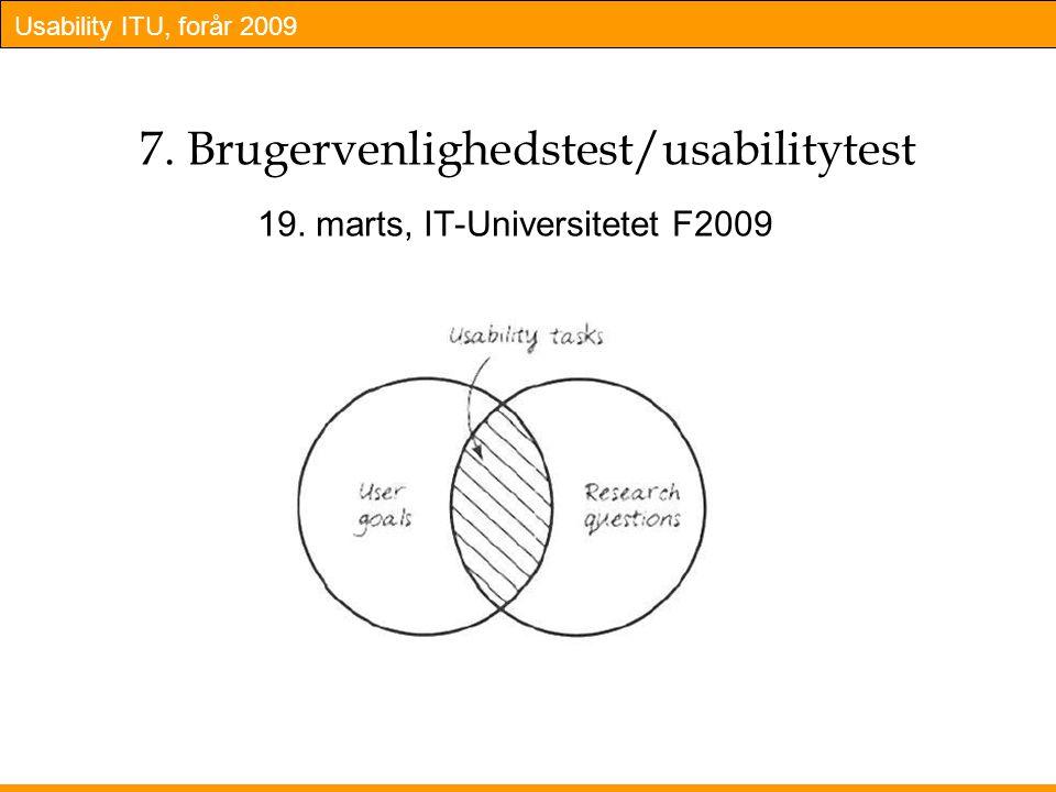 7. Brugervenlighedstest/usabilitytest
