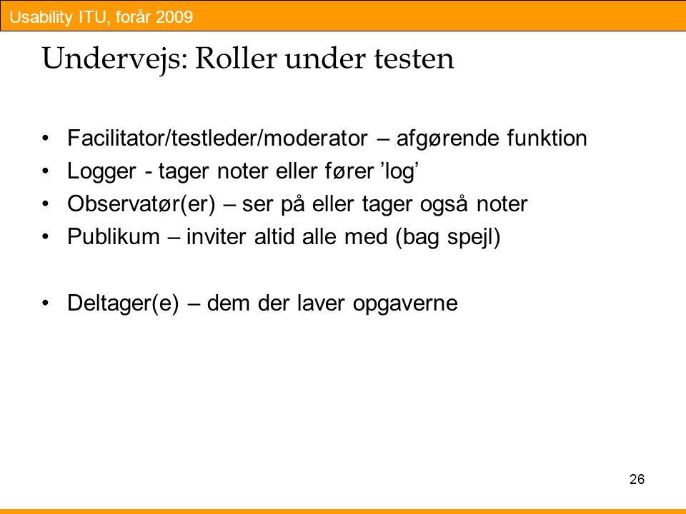 Undervejs: Roller under testen