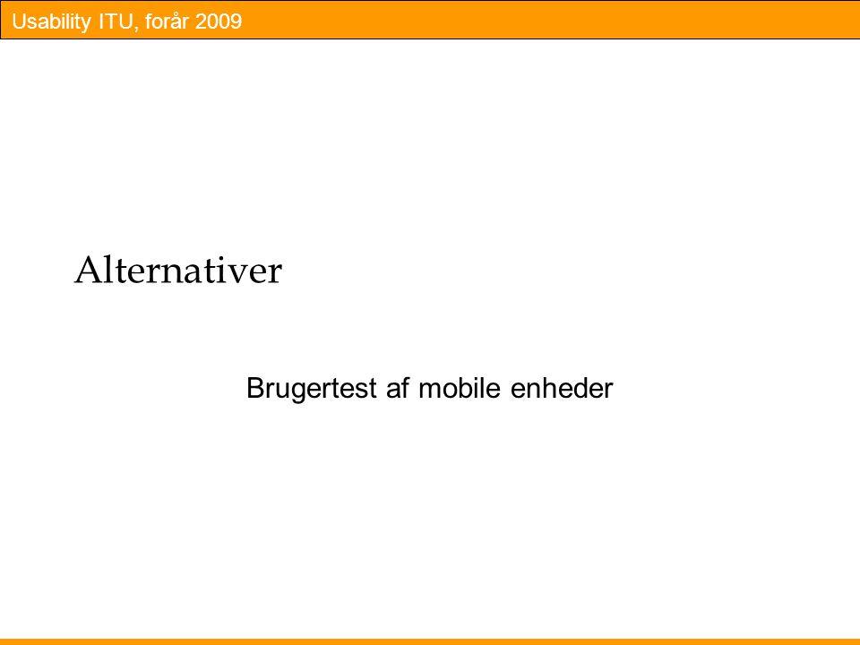 Brugertest af mobile enheder
