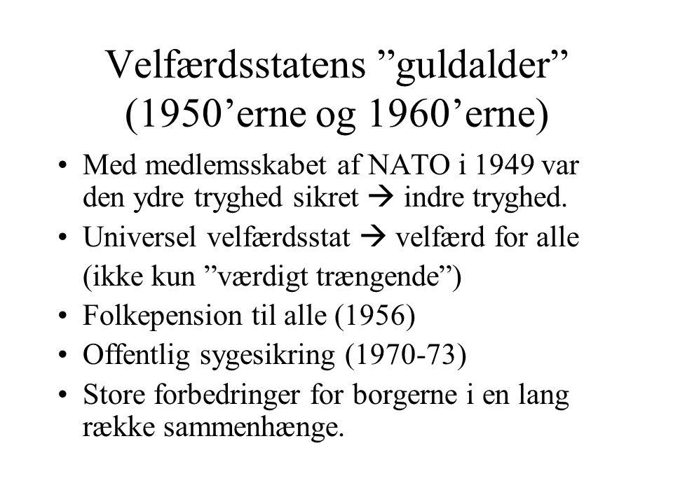 Velfærdsstatens guldalder (1950'erne og 1960'erne)