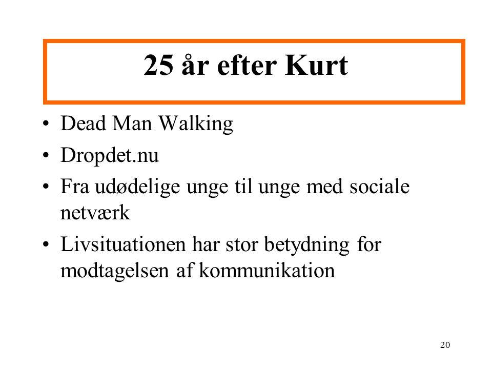 25 år efter Kurt Dead Man Walking Dropdet.nu