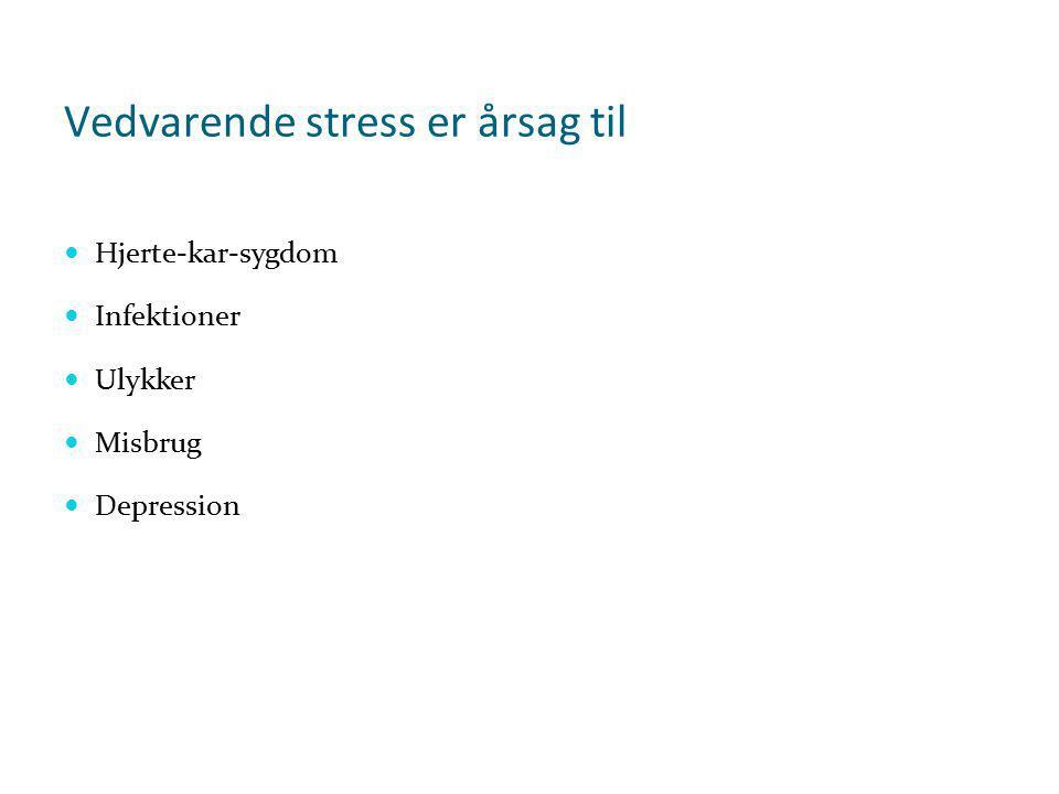 Vedvarende stress er årsag til
