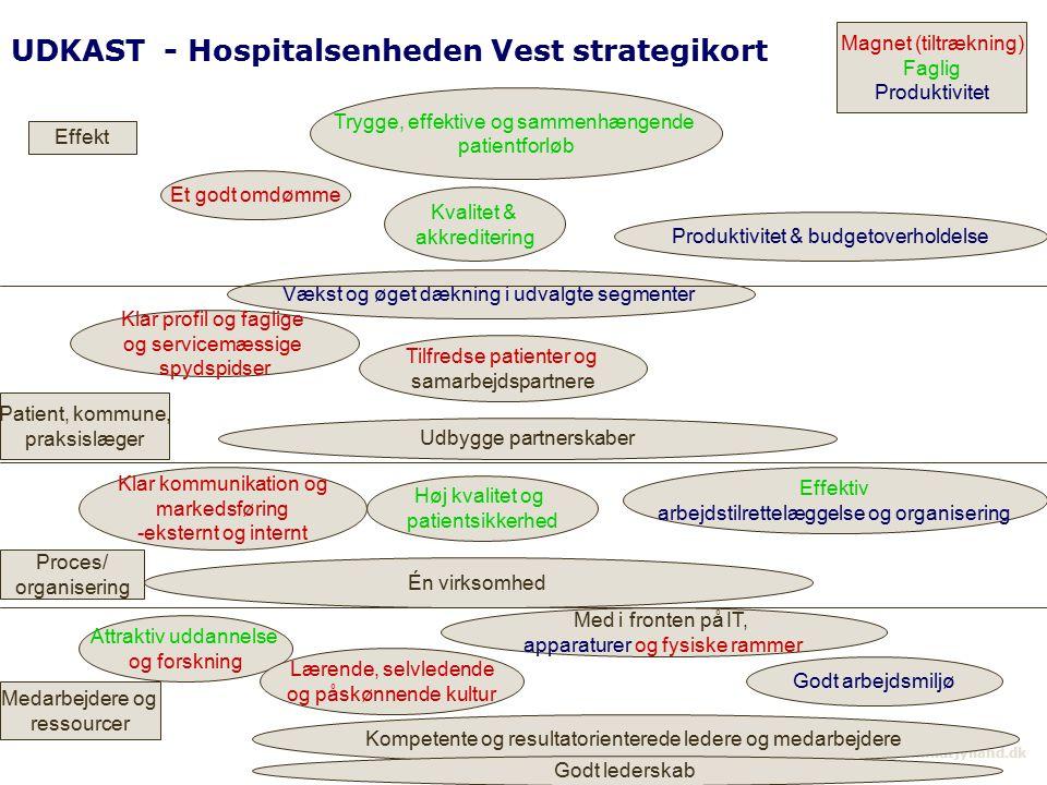 UDKAST - Hospitalsenheden Vest strategikort