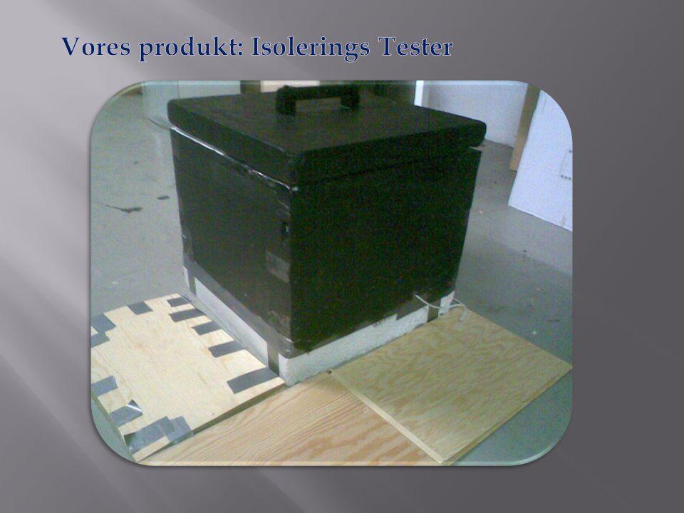 Vores produkt: Isolerings Tester