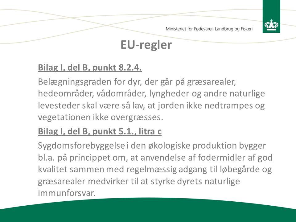 EU-regler Bilag I, del B, punkt 8.2.4.