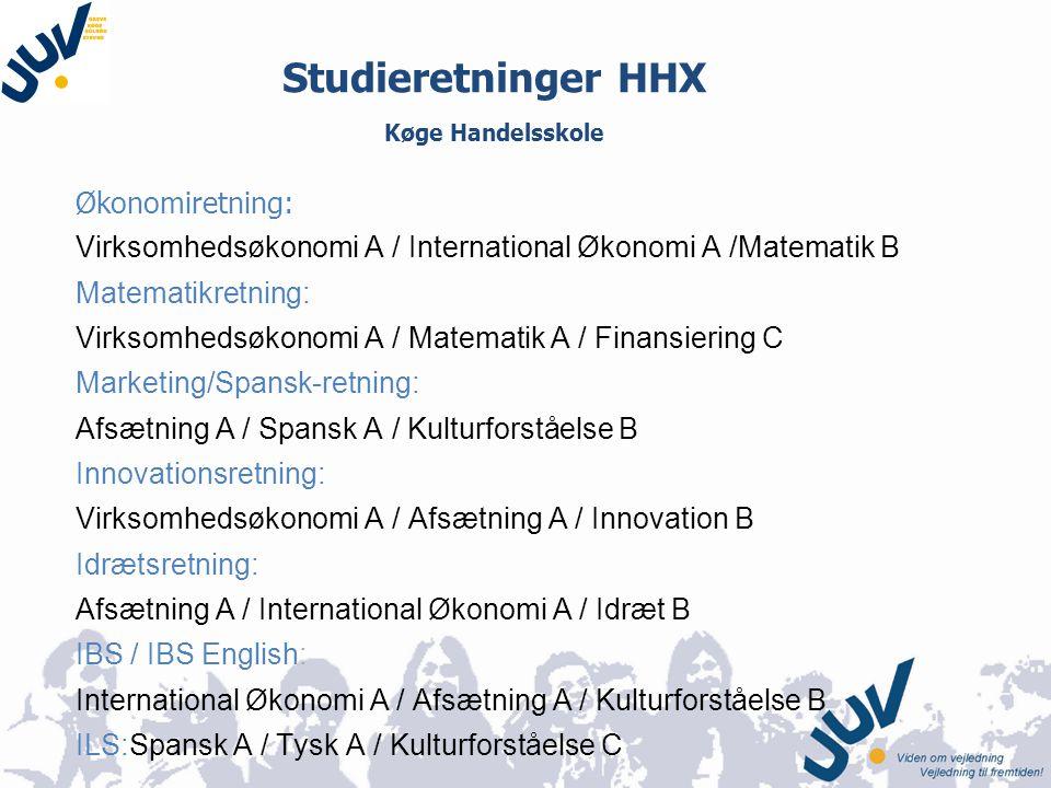 Studieretninger HHX Køge Handelsskole