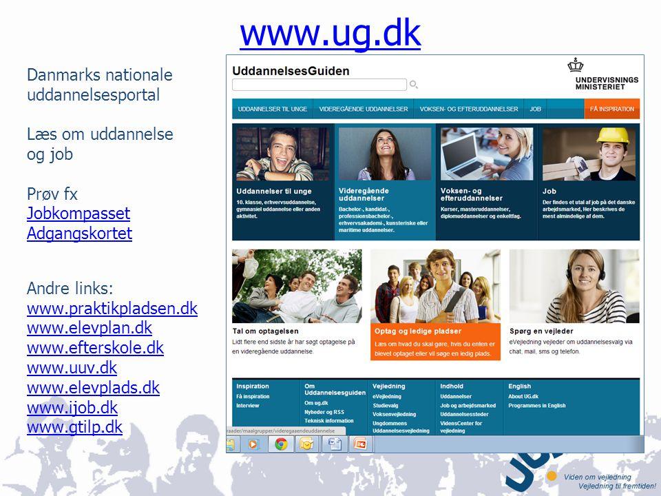 www.ug.dk Danmarks nationale uddannelsesportal