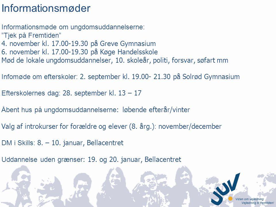 Informationsmøder Informationsmøde om ungdomsuddannelserne: