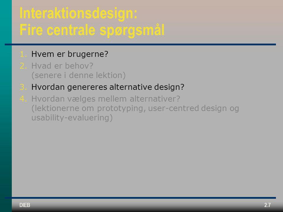 Interaktionsdesign: Fire centrale spørgsmål