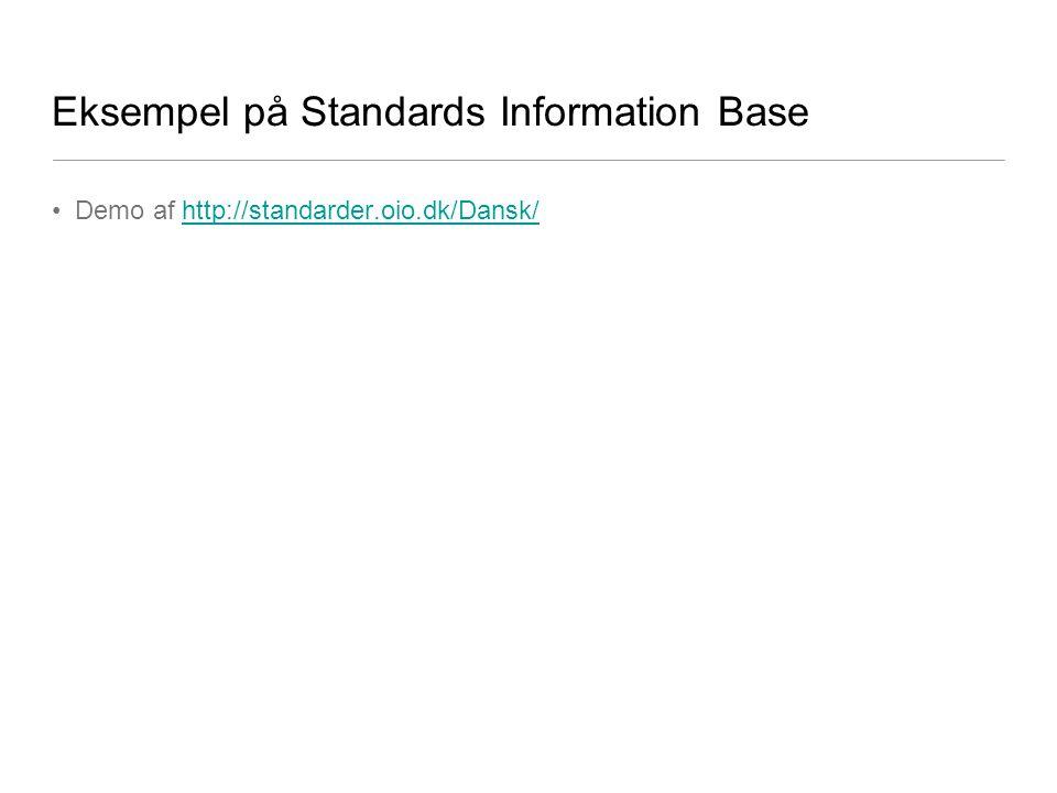 Eksempel på Standards Information Base