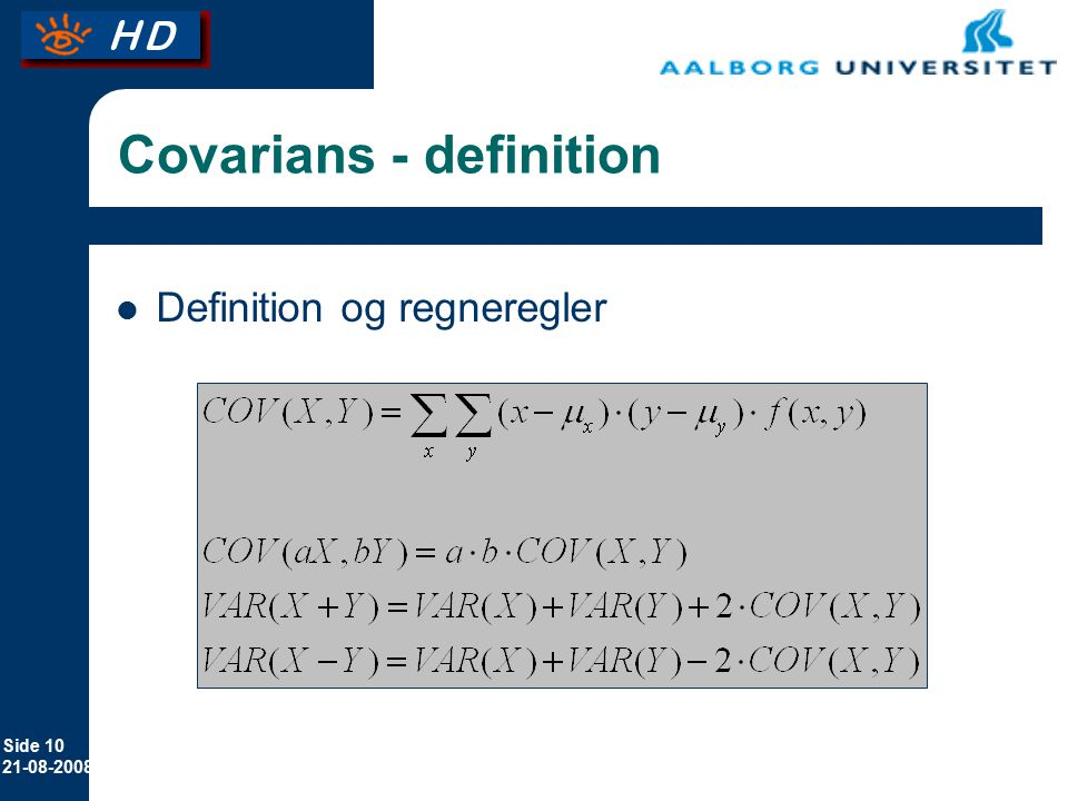 Covarians - definition
