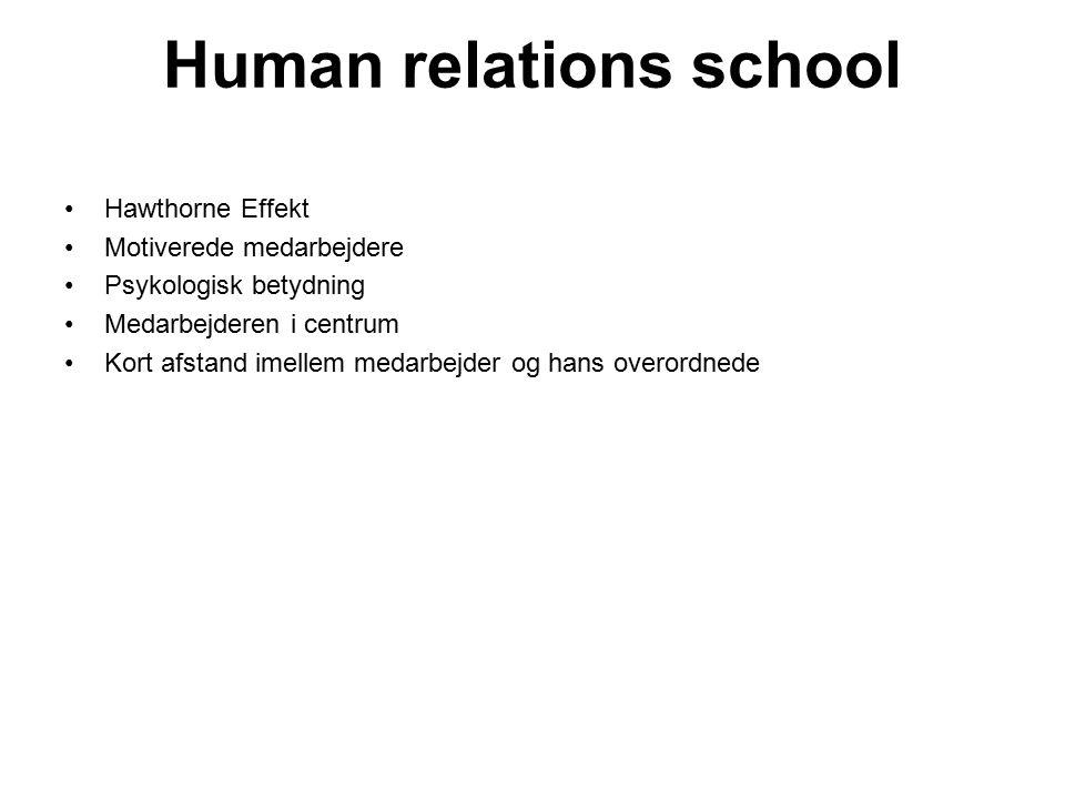 Human relations school