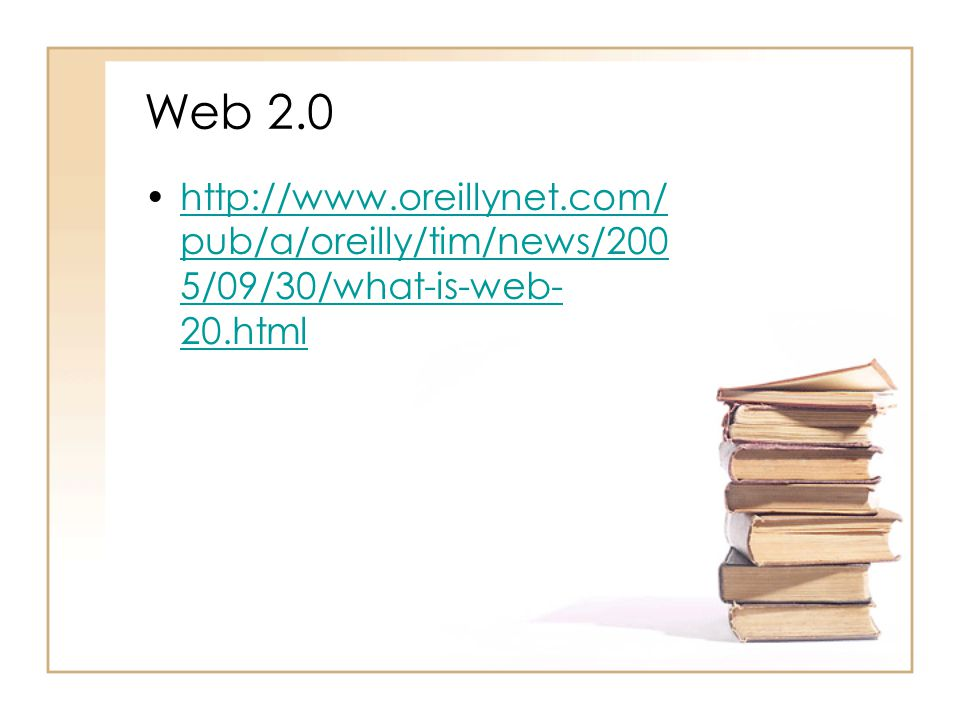 Web 2.0 http://www.oreillynet.com/pub/a/oreilly/tim/news/2005/09/30/what-is-web-20.html