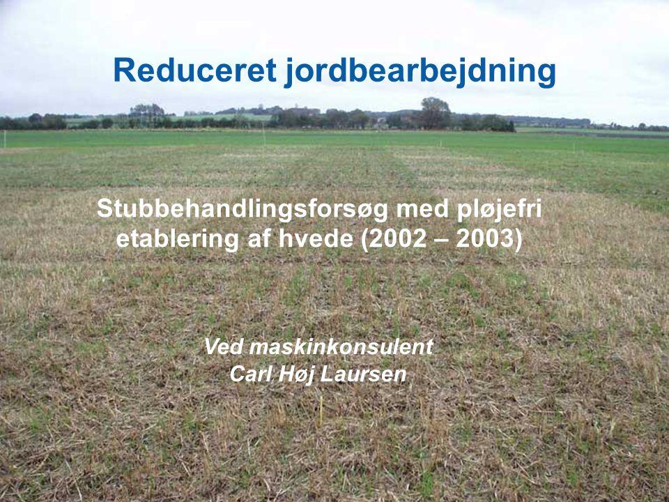 Reduceret jordbearbejdning