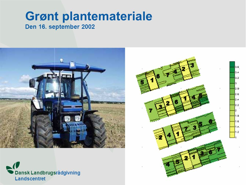 Grønt plantemateriale Den 16. september 2002