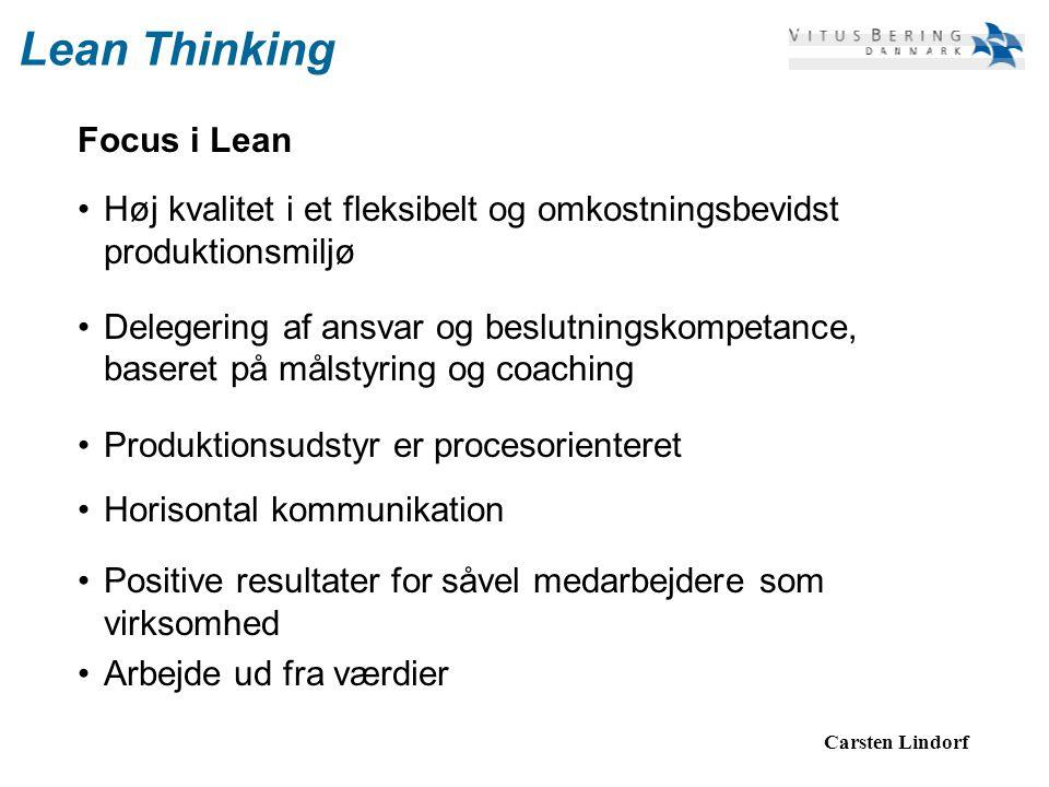 Lean Thinking Focus i Lean