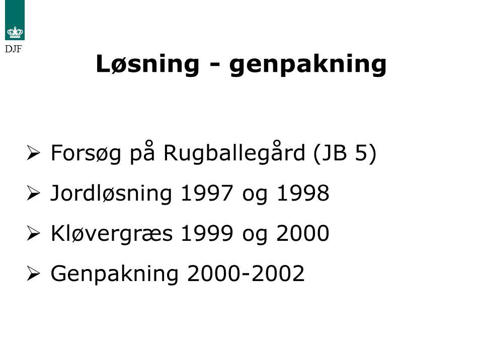 Løsning - genpakning Forsøg på Rugballegård (JB 5)