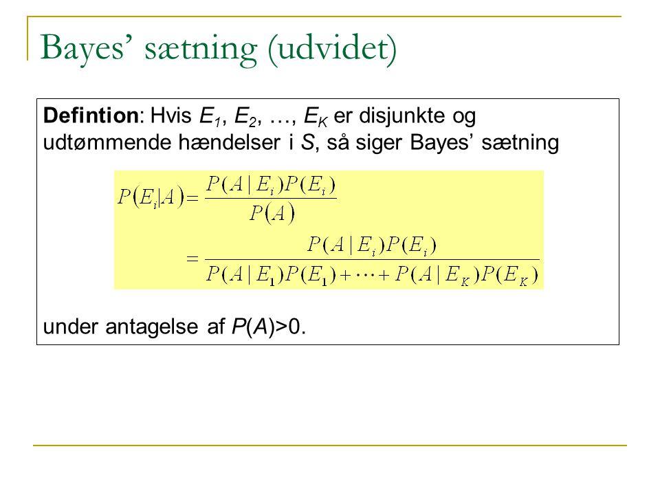 Bayes' sætning (udvidet)