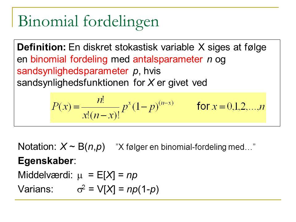 Binomial fordelingen