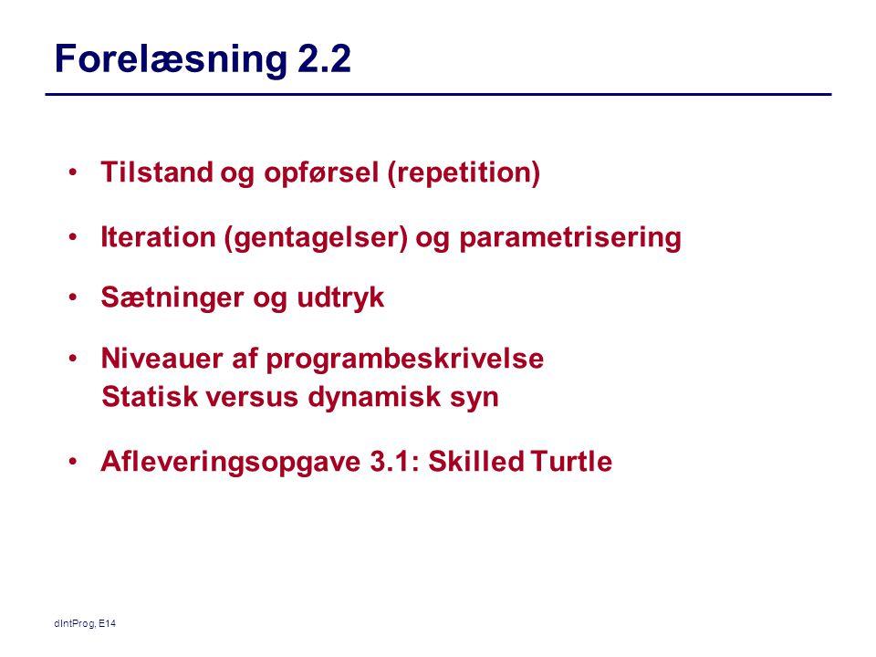 Forelæsning 2.2 Tilstand og opførsel (repetition)
