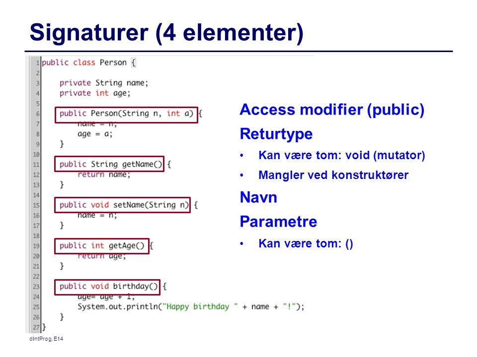 Signaturer (4 elementer)