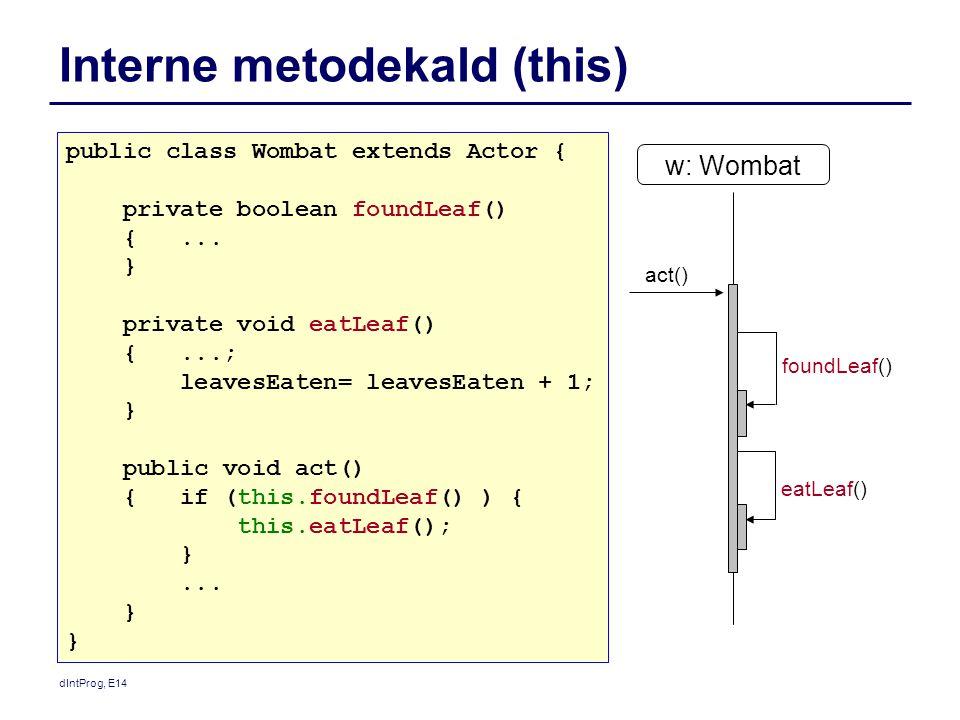 Interne metodekald (this)