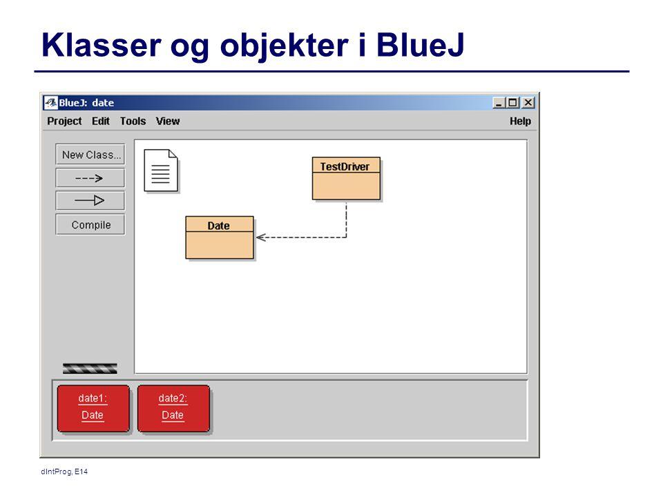 Klasser og objekter i BlueJ