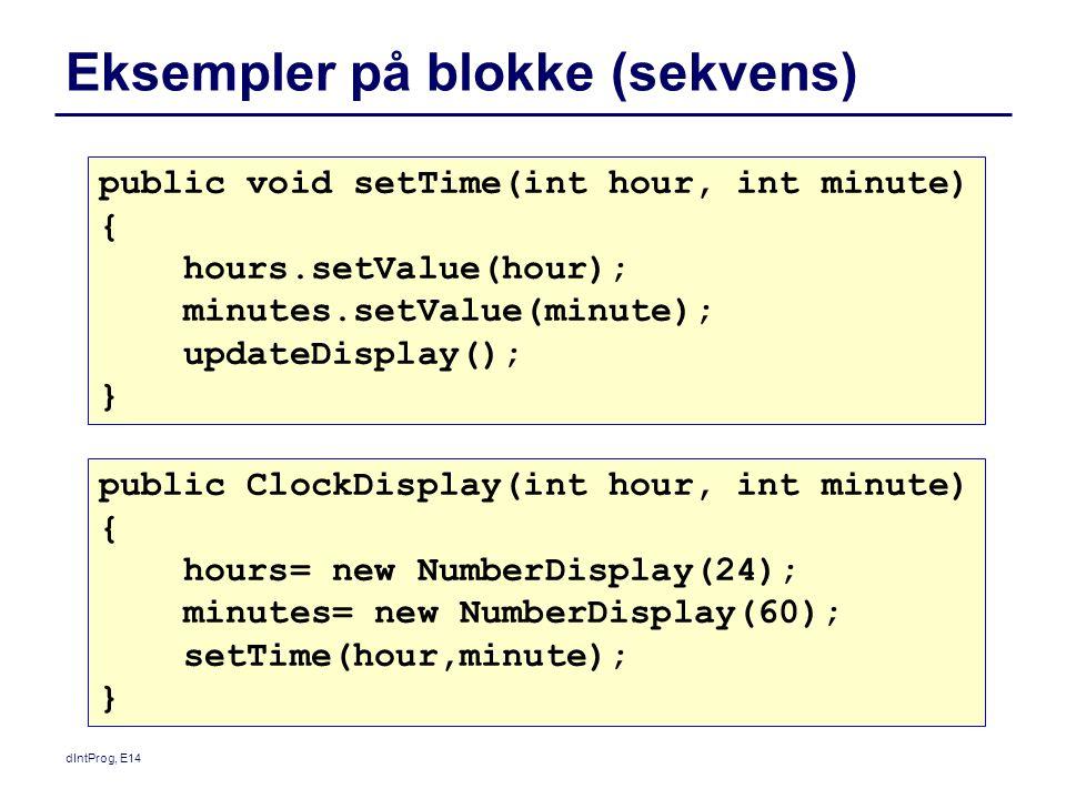Eksempler på blokke (sekvens)