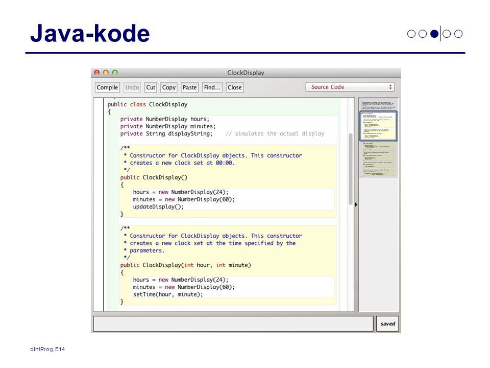 Java-kode dIntProg, E14