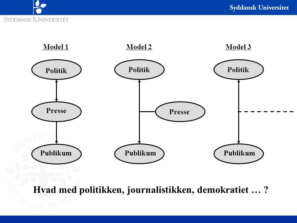 Hvad med politikken, journalistikken, demokratiet …