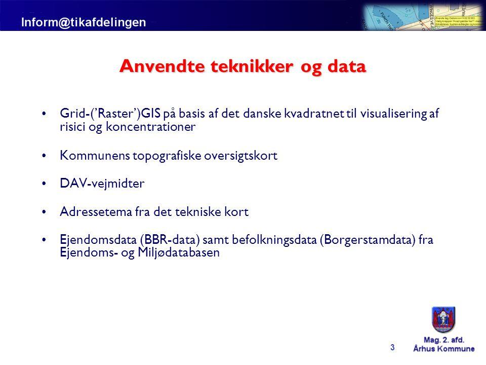 Anvendte teknikker og data