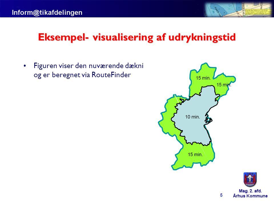 Eksempel- visualisering af udrykningstid