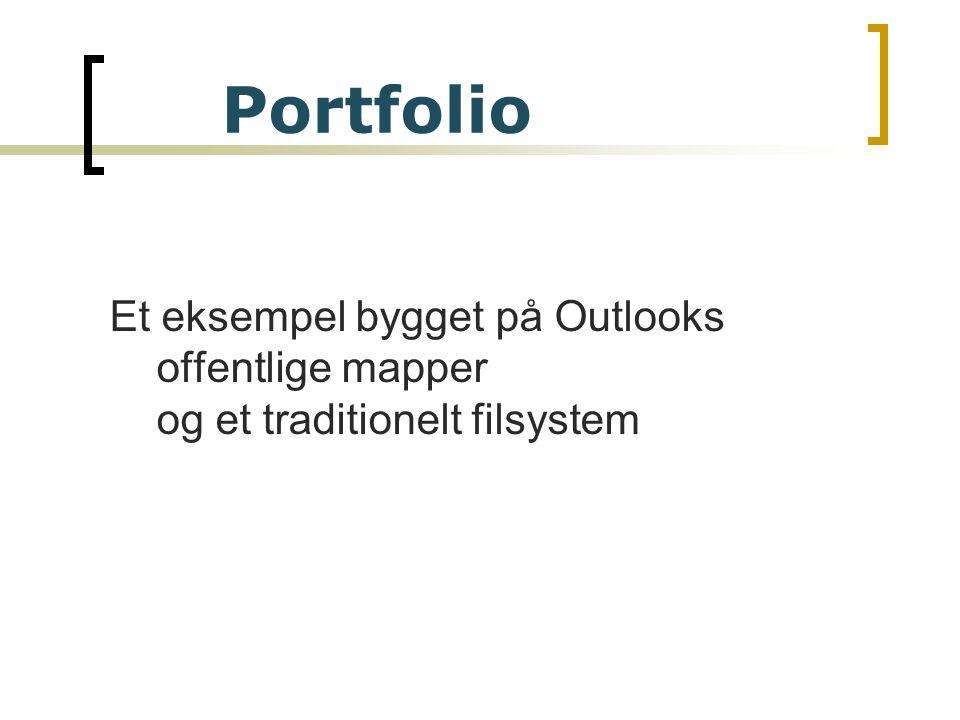 Et eksempel bygget på Outlooks offentlige mapper og et traditionelt filsystem