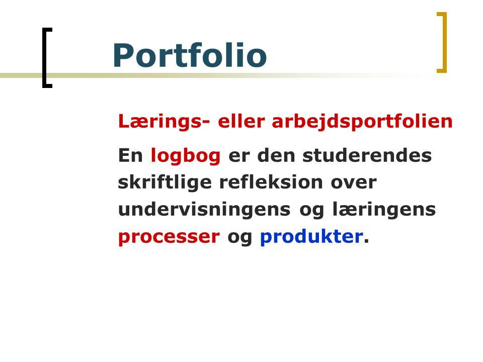 Lærings- eller arbejdsportfolien