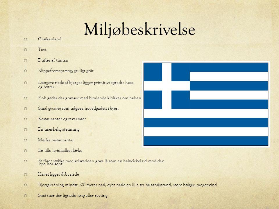 Miljøbeskrivelse Grækenland Tørt Dufter af timian