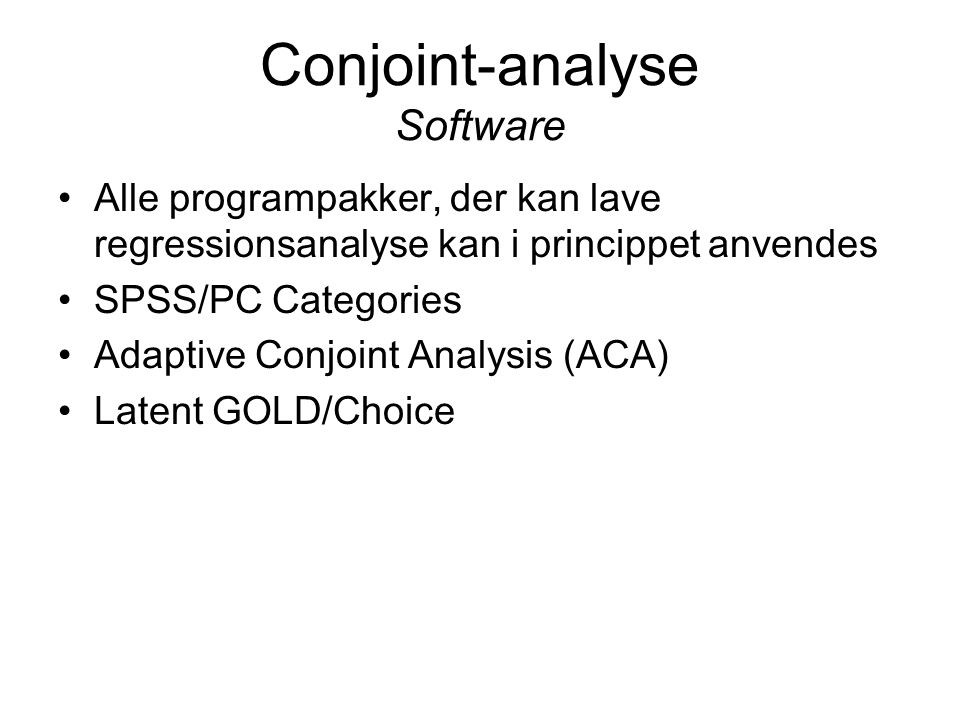Conjoint-analyse Software