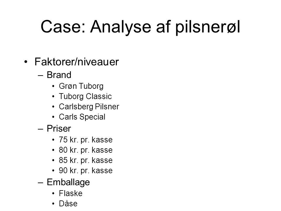 Case: Analyse af pilsnerøl