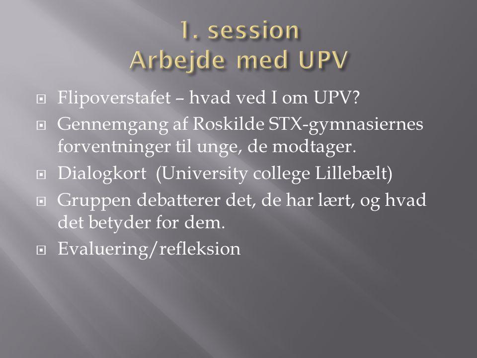 1. session Arbejde med UPV