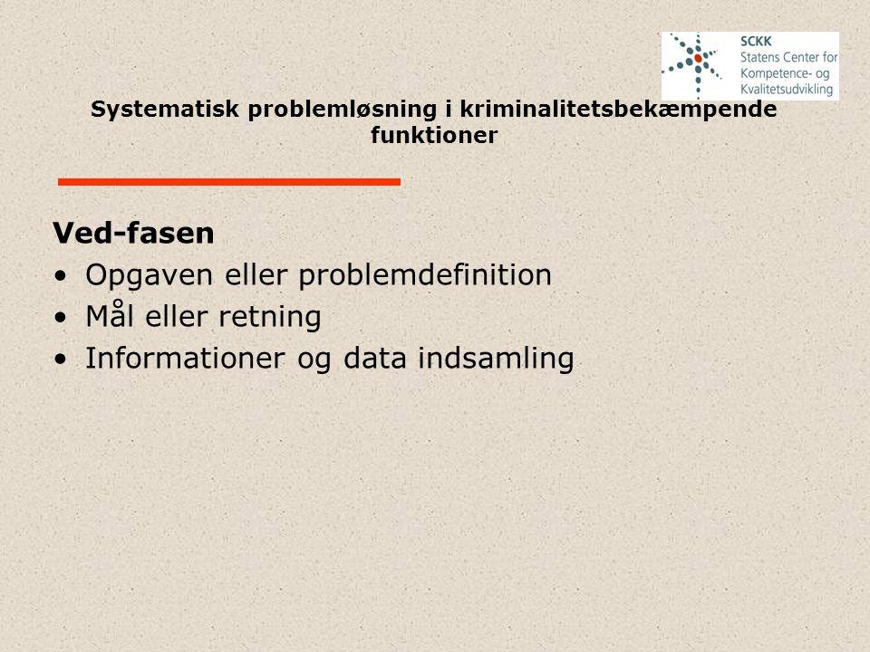 Systematisk problemløsning i kriminalitetsbekæmpende funktioner