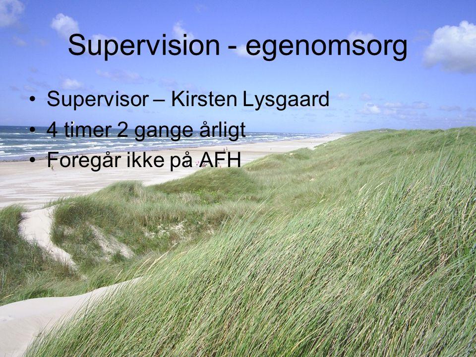 Supervision - egenomsorg